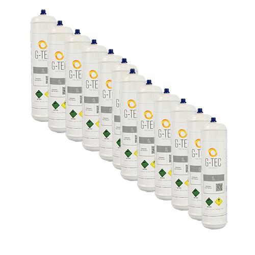 Bombola ossigeno G-OXYGEN da 0,95 litri / 0,112 mc (112 litri) - confezione 12 pezzi