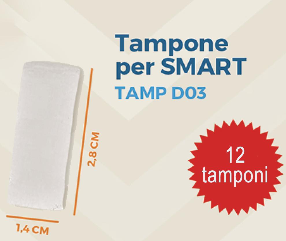 Brasotek - 4 x TAMP D03 - Kit ricambi composto da 12 tamponi SMART (per flacone 20 ml)